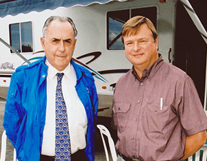 With the Late Sir Jack Brabham - A true great and gentleman